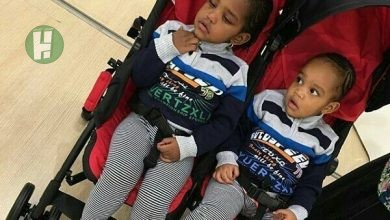 Photo of Adorable photos of Nura M Inuwa's identical twin daughters