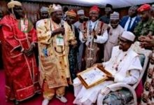 Photo of Lovely photos: President Buhari received by Igbo traditional chieftians in Enugu state