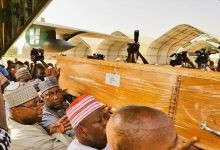 Photo of The corpse of Late Dr. Yusuf Maitama Sule, Danmasanin Kano was laid to rest