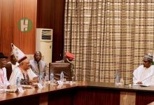 Photo of Muhammadu Buhari meets Igbo Muslim Traditional Ruler in Aso Rock over security