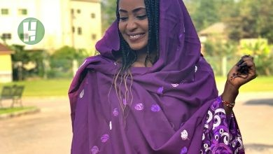 Photo of Photos: Kannywood actress, Fati Washa stuns in Purple Outfit