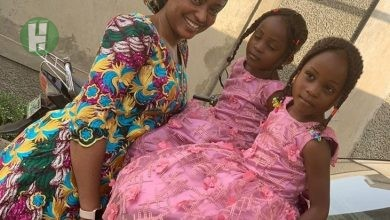 Photo of Photos: Fati Washa pictured with Adorable Identical Twin Children